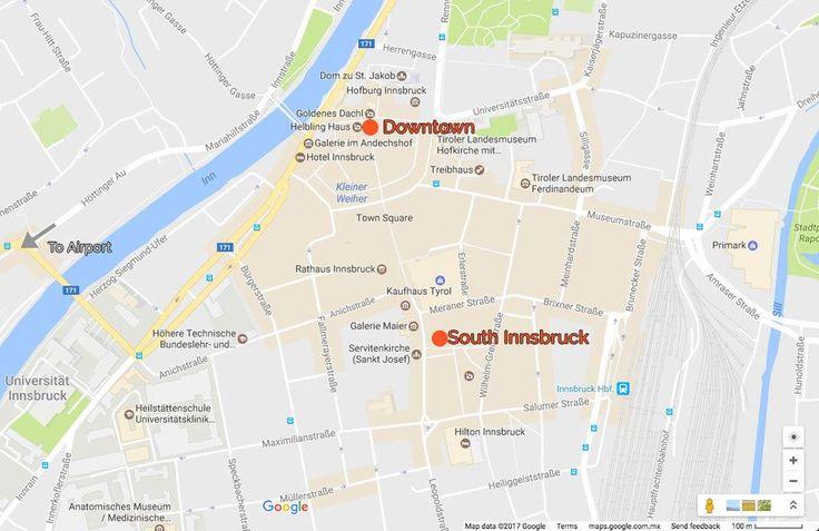 Best Hotels Innsbruck Austria. Innsbruck Map