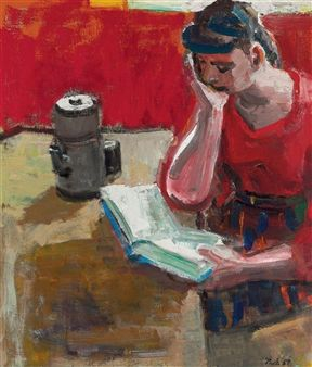 Woman Reading By David Park ,1957