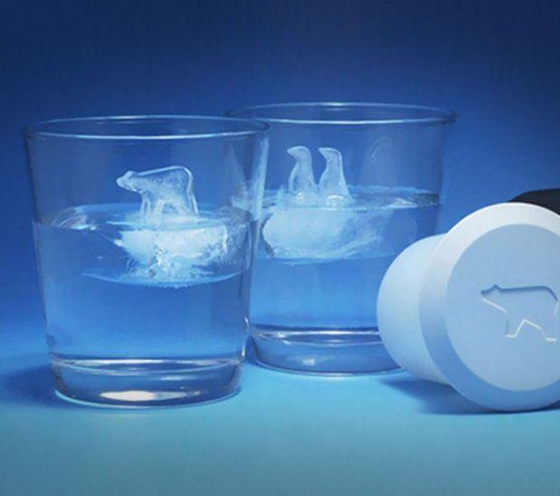 Penguin & Polar Bear Glacier Ice Cube Molds