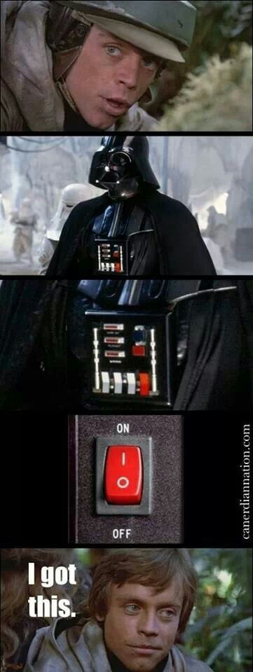 Luke Defeats Darth Vader Meme http://geekxgirls.com/article.php?ID=3397