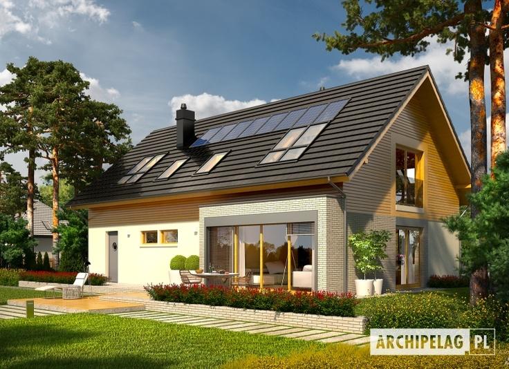 Dom energooszczędny Benjamin II G2 ENERGO   standard NF40  EUco = 22.84 kWh/(m2rok)