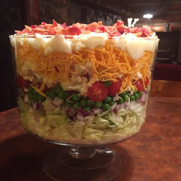 Seven Layer Salad There S Never Too Much Because Everybody Loves It Recipe Salad Layered Salad Seven Layer Salad Layered Salad Recipes