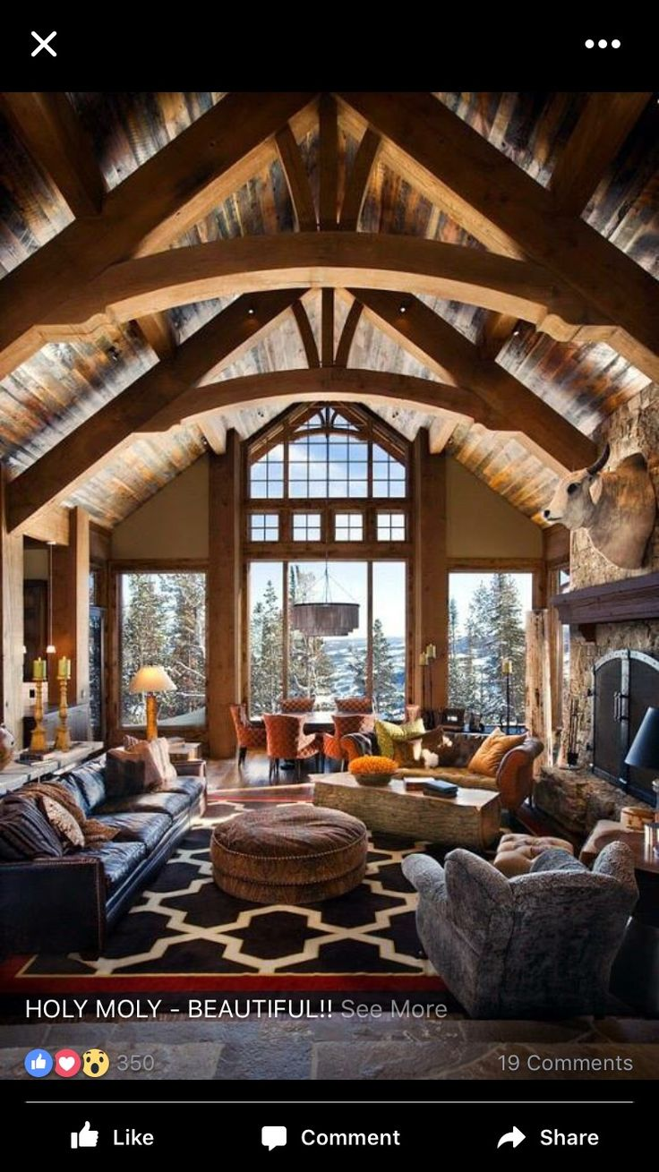 best log home interiors images on pinterest country homes
