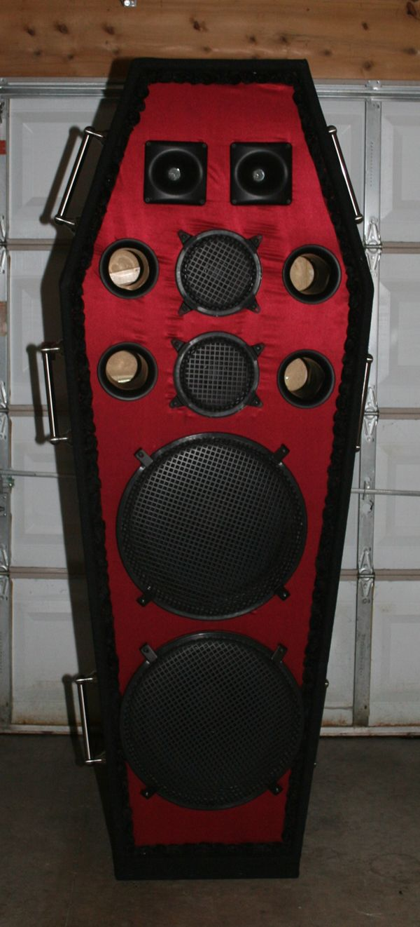 Skema box speaker woofer search results woodworking project ideas - These Are Perfect For Metal Music Coffin Speakers