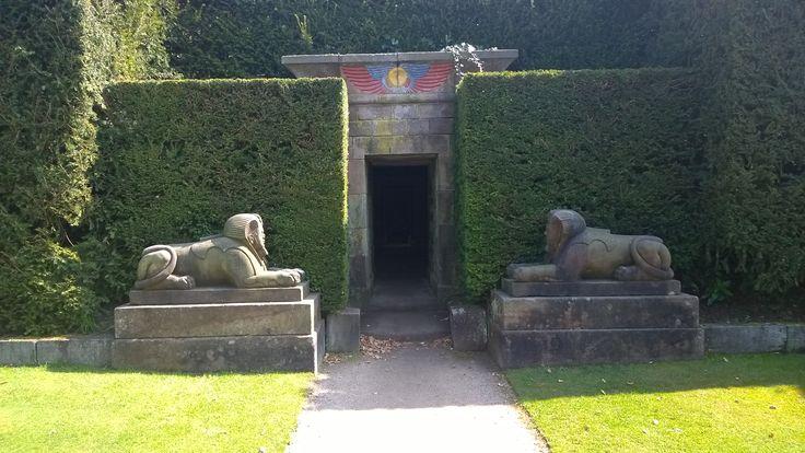 Entrance to 'Egypt' garden Biddulph Grange....near Stoke UK