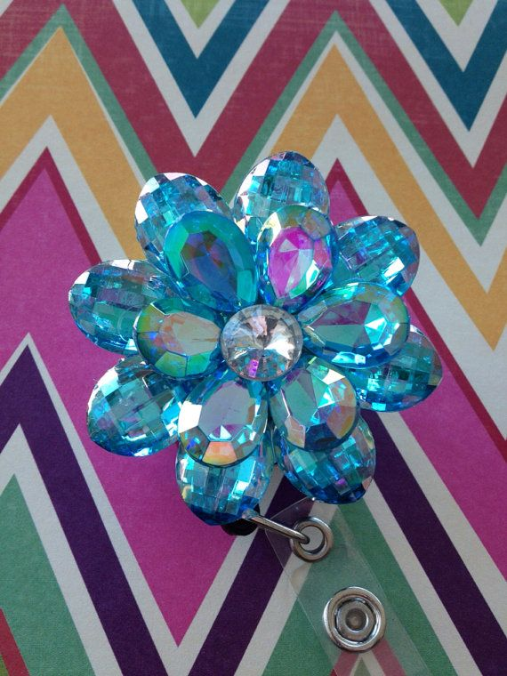 11 best id badge diy ideas images on pinterest badge reel id aqua flower retractable badge reel on etsy 1200 solutioingenieria Image collections