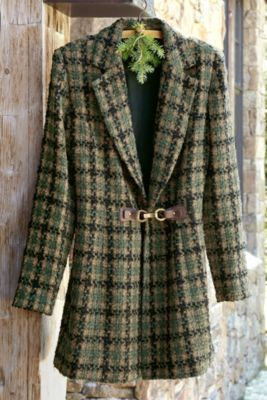 Yorkshire Jacket I - Womens Menswear Jacket, English Style Jacket, Ladies Tweed Jacket  | Soft Surroundings