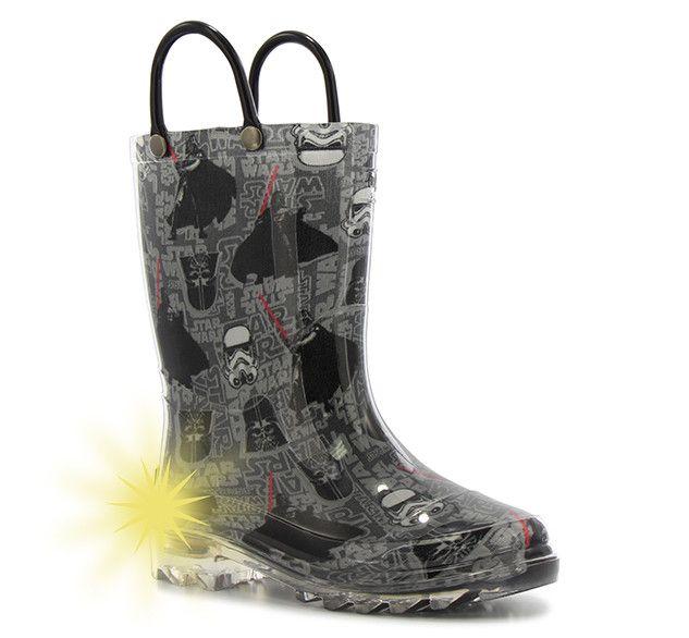 Kids' Star Wars Dark Side Lighted Rain Boots - Charcoal