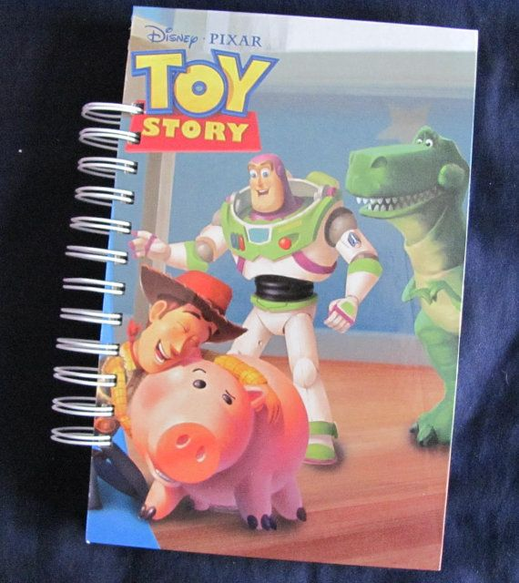 Toy Story Recycled Book Journal Notebook by VintageIntent on Etsy