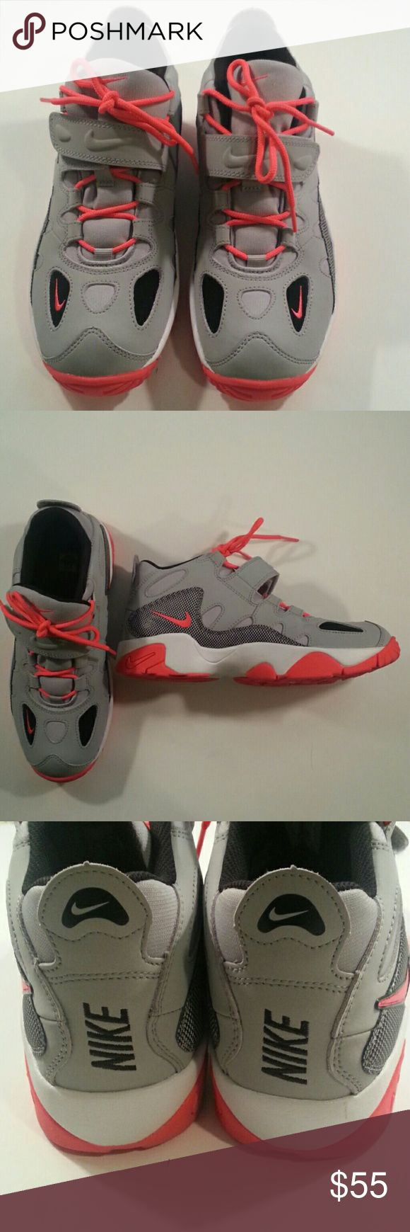 Nike Air Turf Raider Boys 7Y Grey, Neon Color Nike Air Turf Raiders Boys 7Y grey, black, white and neon color. Barely worn. Check out pictures. Don't miss these! Nike Shoes Sneakers