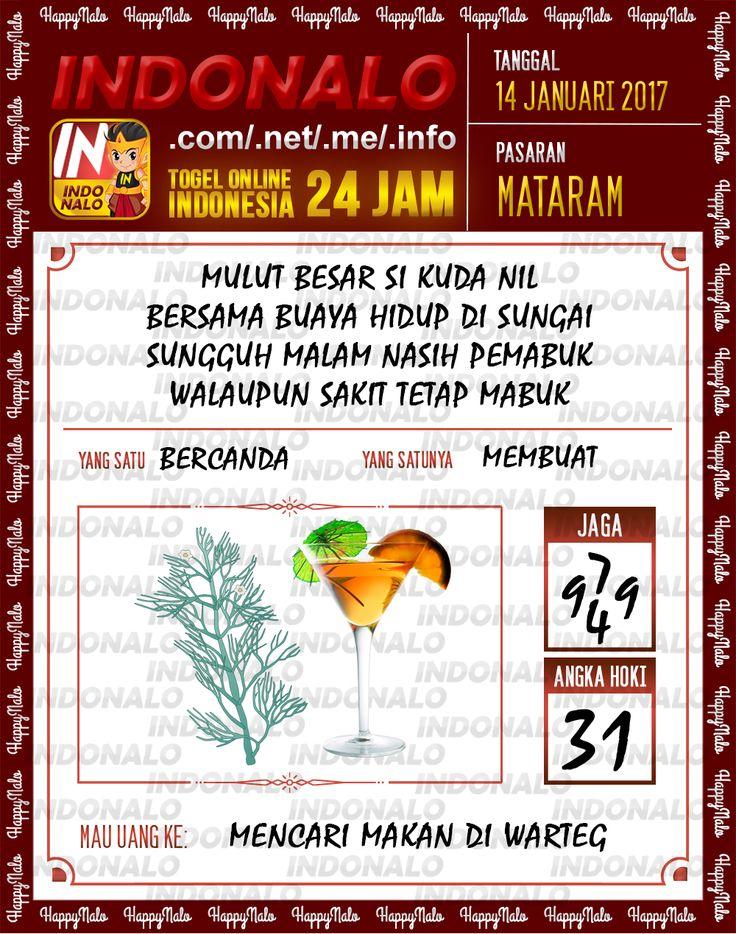 Kode Hoki 2D Togel Wap Online Live Draw 4D Indonalo Mataram 14 Januari 2017