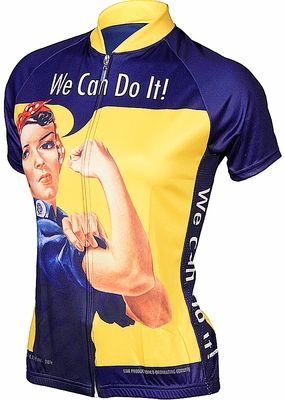 Rosie The Riveter Women's Cycling Jersey by Retro