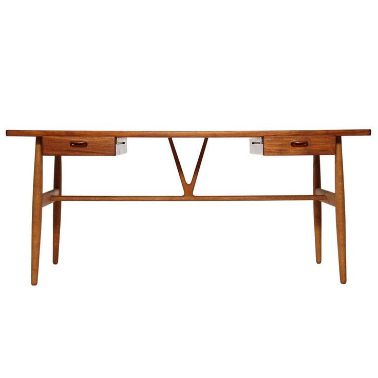 the Wishbone Desk by Hans Wegner  Denmark  1960's
