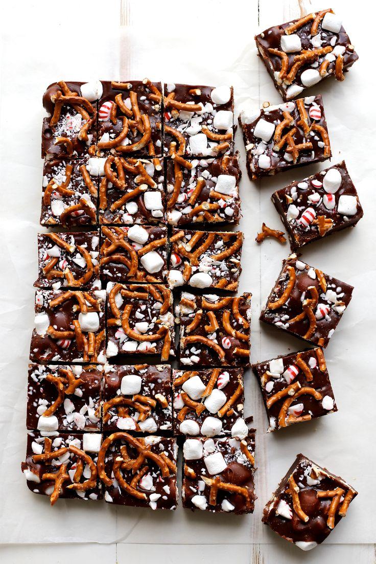 Peppermint Pretzel Marshmallow Fudge (recipe) / by Joy the Baker