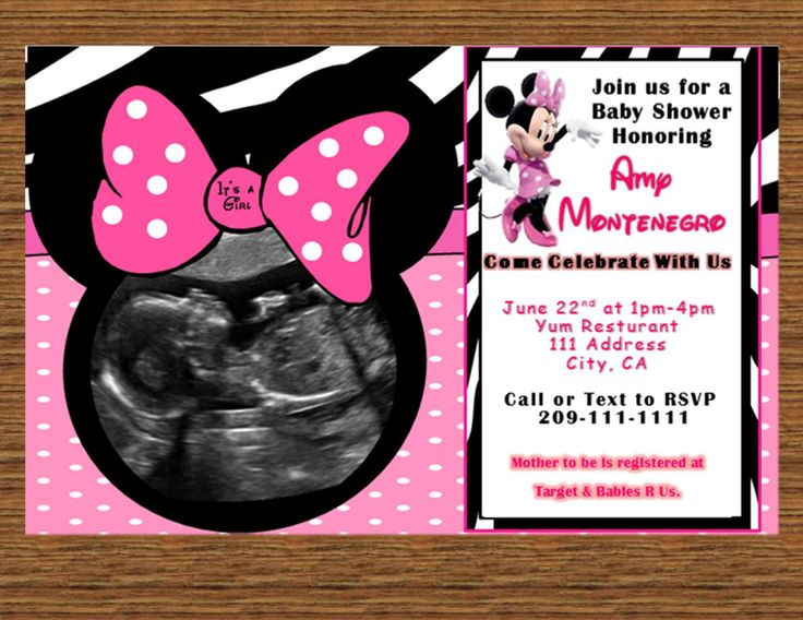 minnie mouse baby shower invitedigital file by susanssimplicities 1000