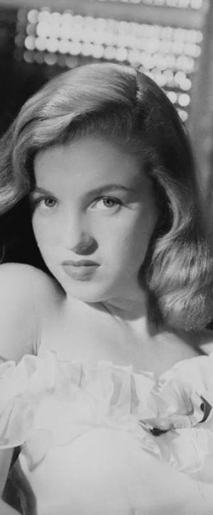 "Norma Jeane. Photo by Erwin Steinmeyer, 1946.  This is Marilyn, before Hollywood ""fixed"" her nose, added a birthmark"