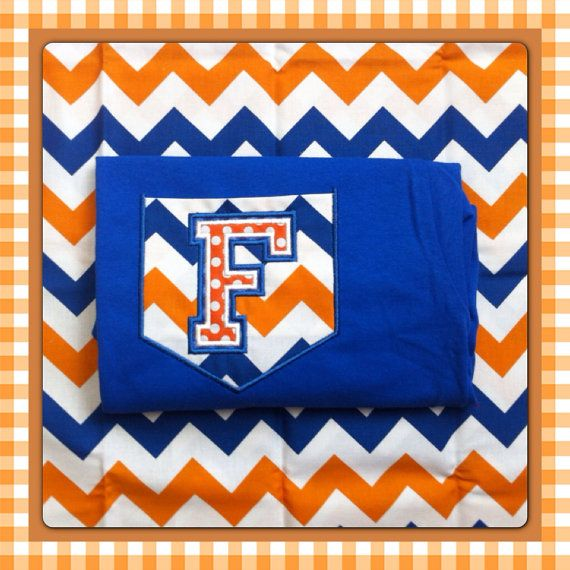 Florida Gator Colors Chevron Pocket Shirt on Etsy, $18.50