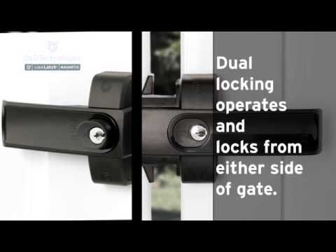 LokkLatch Magnetic - It's a lock. It's a latch. It's all you need (video link only)