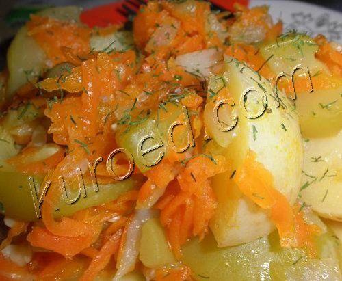Летнее овощное рагу с молодым картофелем