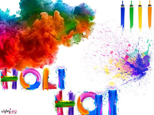 Poetry and Worldwide Wishes: Happy Holi Images with Hot Holi Colorful Background