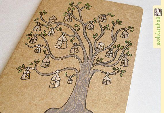 Libreta decorada con tinta / Decorated notebook with ink