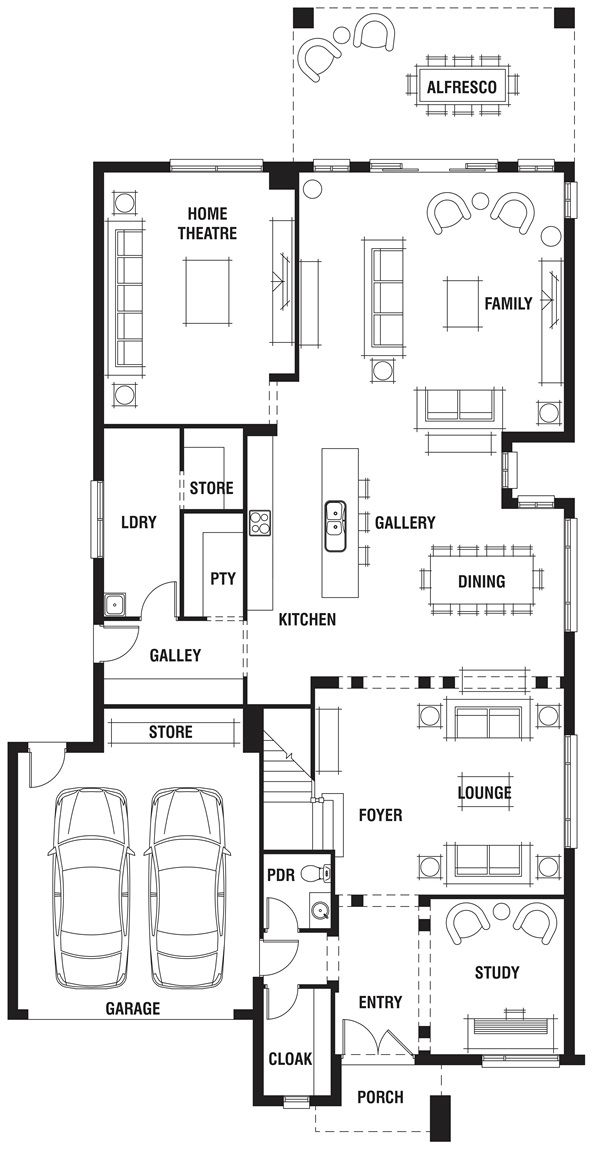 Waldorf Grange House Plan Luxury Home Design: House Design: Waldorf B - Porter Davis Homes