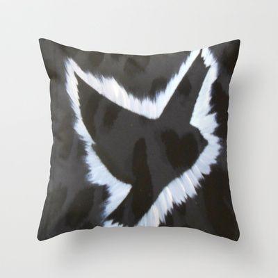 ThePeaceBombs - Dark Animal Throw Pillow by ThePeaceBombs - $20.00 #pillows #art #artwork #shopping #home #decor http://society6.com/ThePeaceBombs www.miaaw.com https://www.facebook.com/marishags