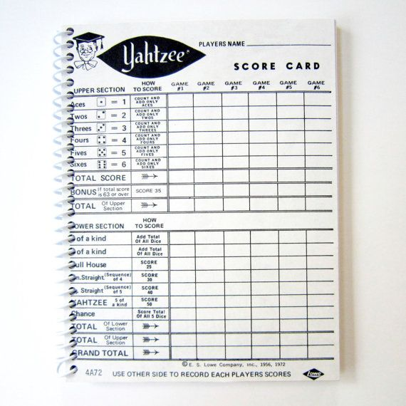 Best  Yahtzee Score Card Ideas On   Yard Yahtzee