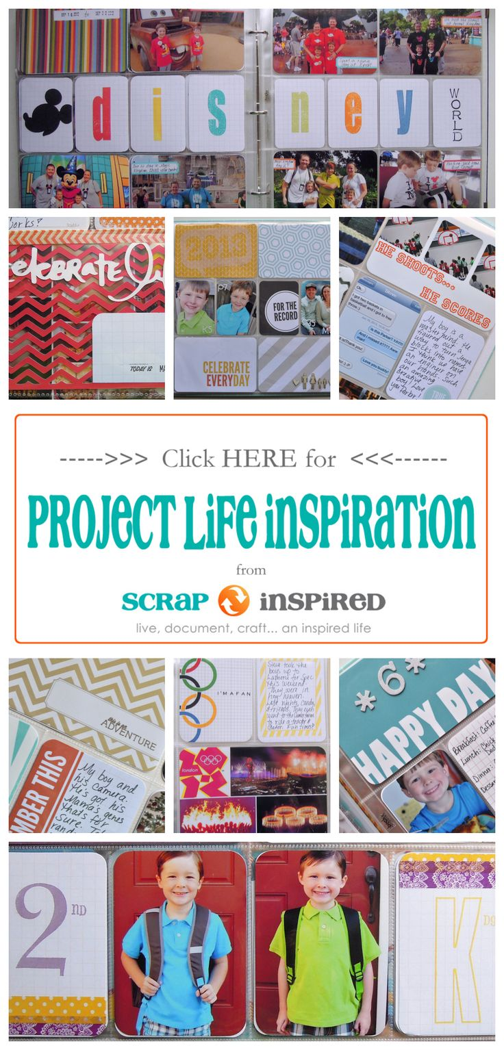 Scrapbook ideas school project - The Best Source For Project Life Inspiration Http Scrapinspired Com