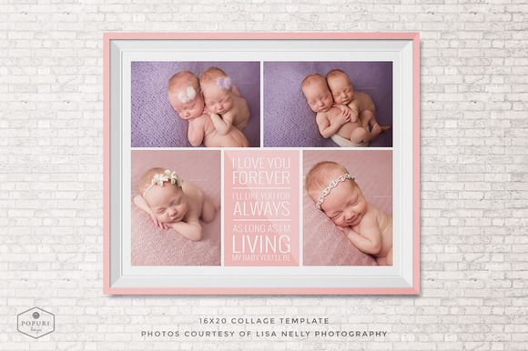 Check out 16x20 Photo Collage Board Template by Popuri Design on Creative Market (Templates)