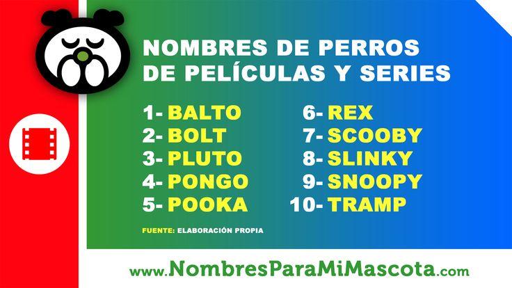 #Nombres #famosos de #perros de #películas y #series. Más nombres y su significado en http://www.nombresparamimascota.com