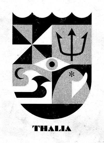 Thalia Surf Shop / #emblem #logo #retro / DOUBLENAUT / Andrew & Matt McCracken