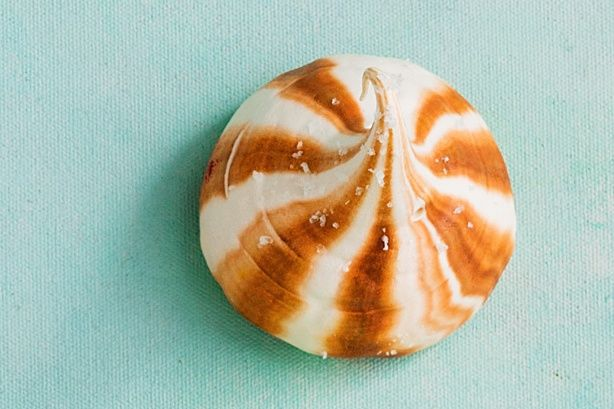 Salted caramel meets meringue in this fun and fanciful after-dinner treat.