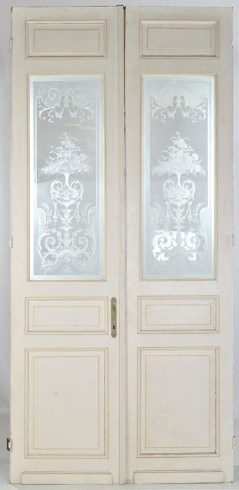 Love Antique Etched Glass Doors!