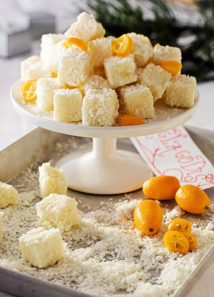 Recept godis med kokos och citron