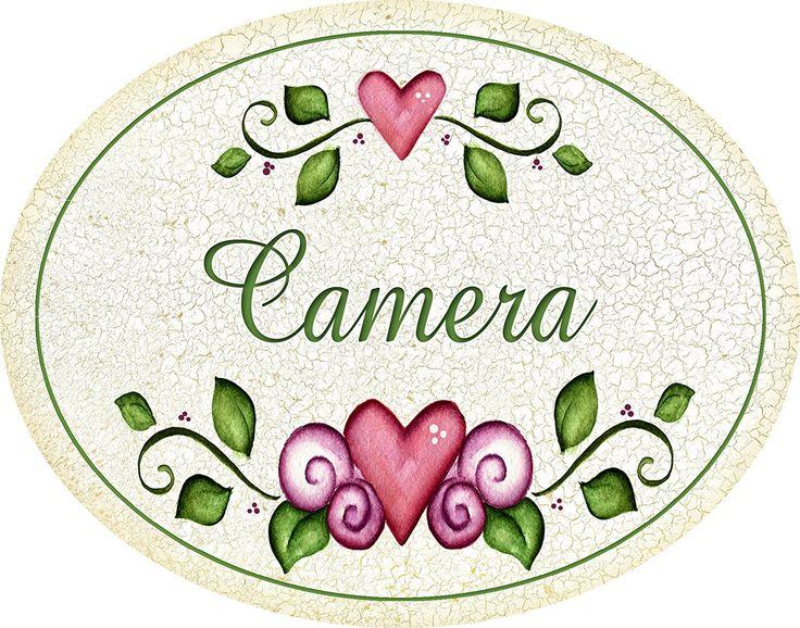 """targhetta ovale """"camera"""" idea regalo, artigianato italiano, made in Italy: Amazon.it: Casa e cucina"""