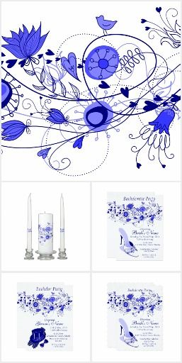 Navy Blue Whimsical Wedding Suite