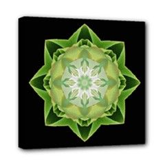 Canvas print fractal Stardust green - also for sale on www.etsy.com/shop/droomcreaties