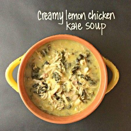 "Lemon chicken crock pot soup- YUMMY. Needs more then ""a pinch"" of salt though."