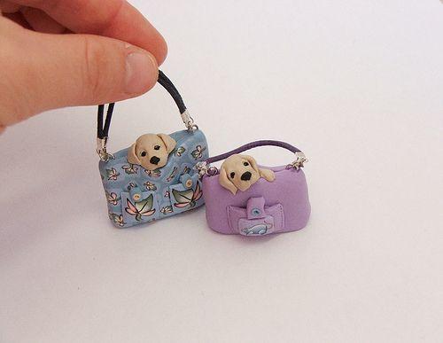 Miniature puppies in handbags by Zoota, via Flickr