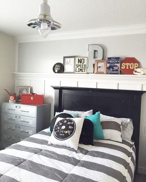 gray color scheme || boys' bedroom