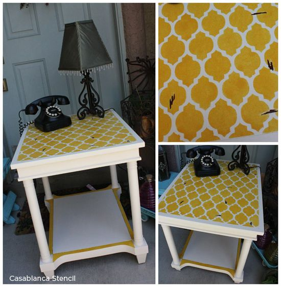 Stenciling Thrifty Finds In Color