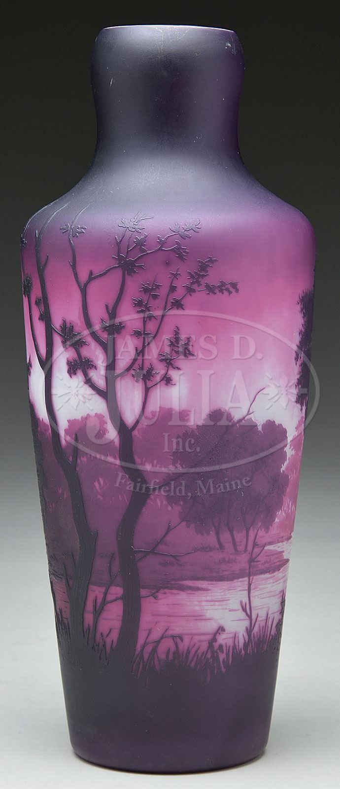 551 best antiquevintage glass vase images on pinterest glass dargental cameo vase unusual cameo vase is decorated in vibrant purple rouge and pink on a white ground and shows a scene with large deciduous trees in reviewsmspy