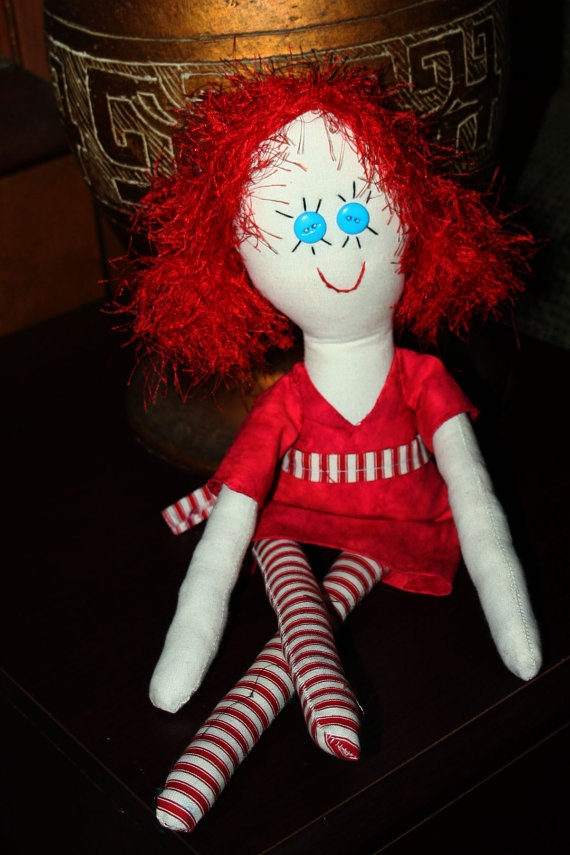 Cinnamon Cindy  One of a Kind 17 Rag Doll by GinsLilCharacters, $40.00