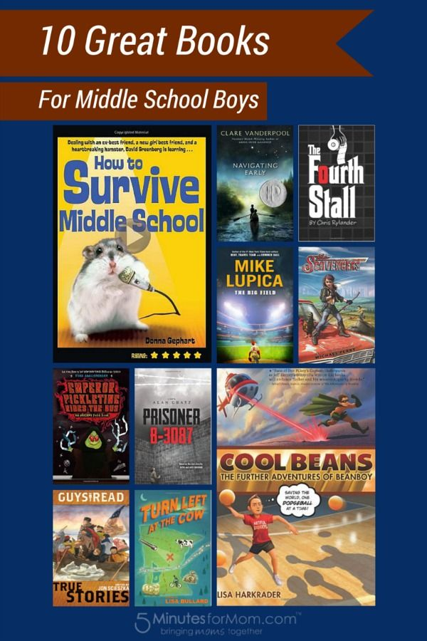 10 Great #Books for Middle School #Boys