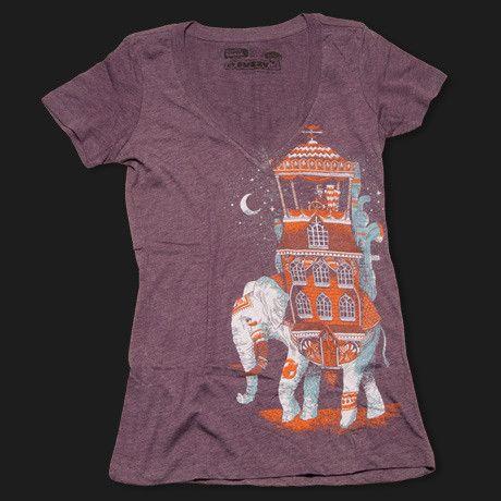 Elephant-Adventure-Mustache-Tee | Fuzzy Ink | Mustache Shirts | Moustache Cookie Cutters