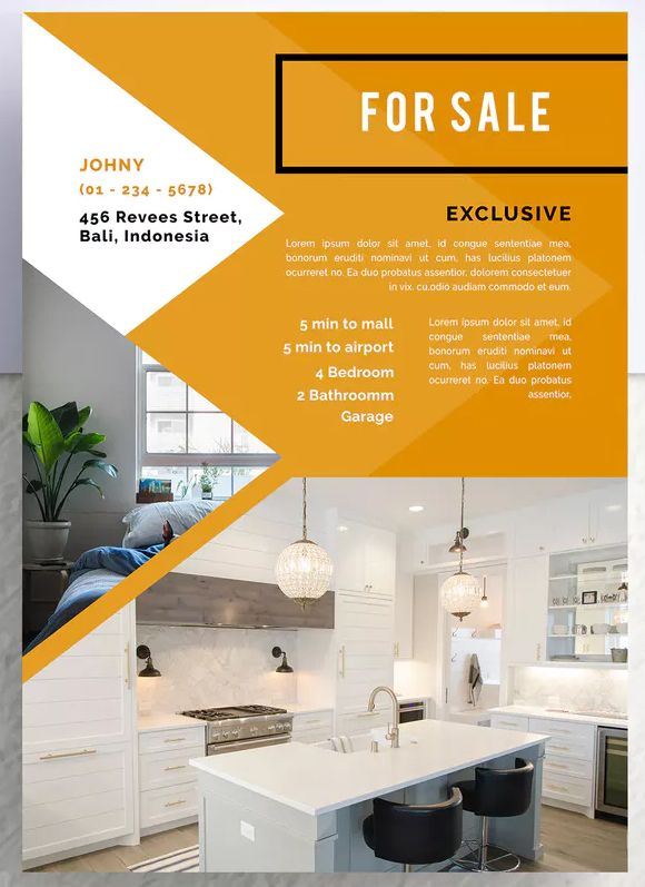 Kertoson Professional Real Estate Flyer Template PSD - A4 Download