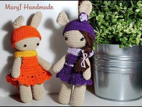 Tutorial: bambolina / coniglietto amigurumi - YouTube