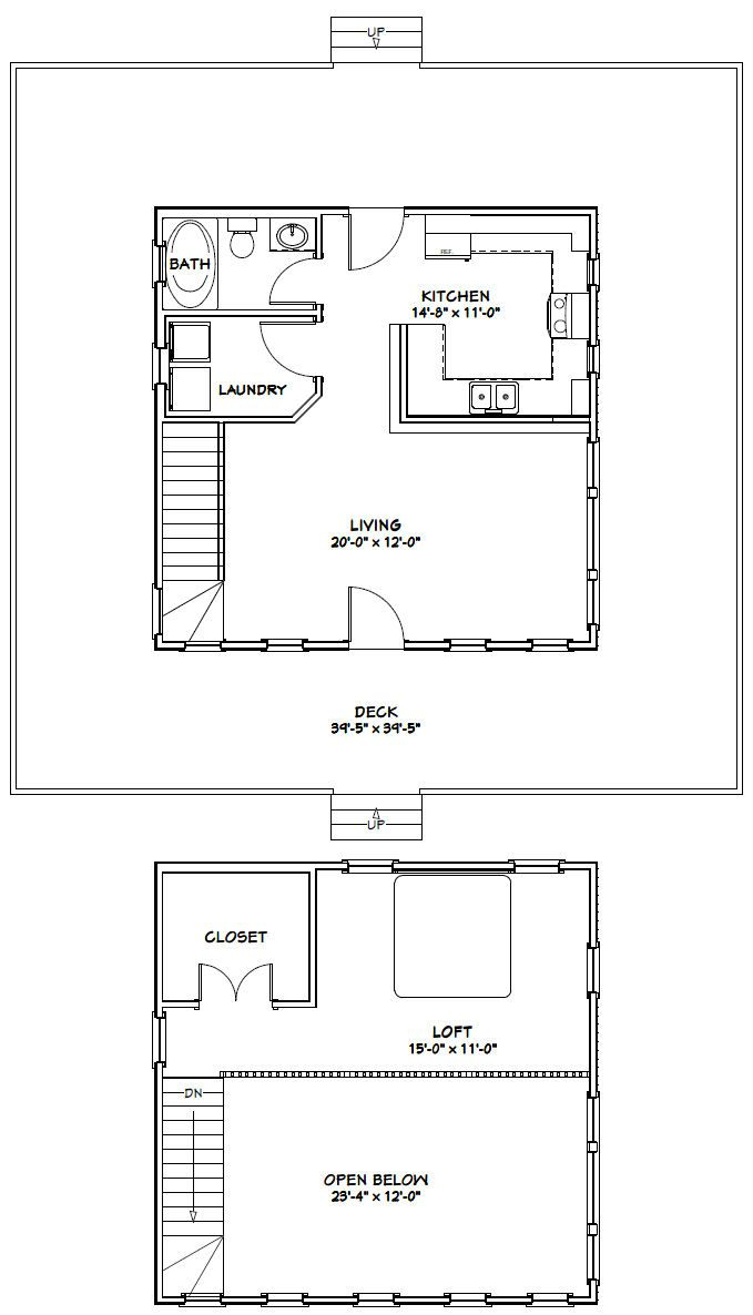 24x24 Lincoln Certified Floor Plan 24ln901 Custom Barns And Buildings The Carriage Shed Loft Floor Plans 1 Bedroom House Plans Cabin Plans With Loft