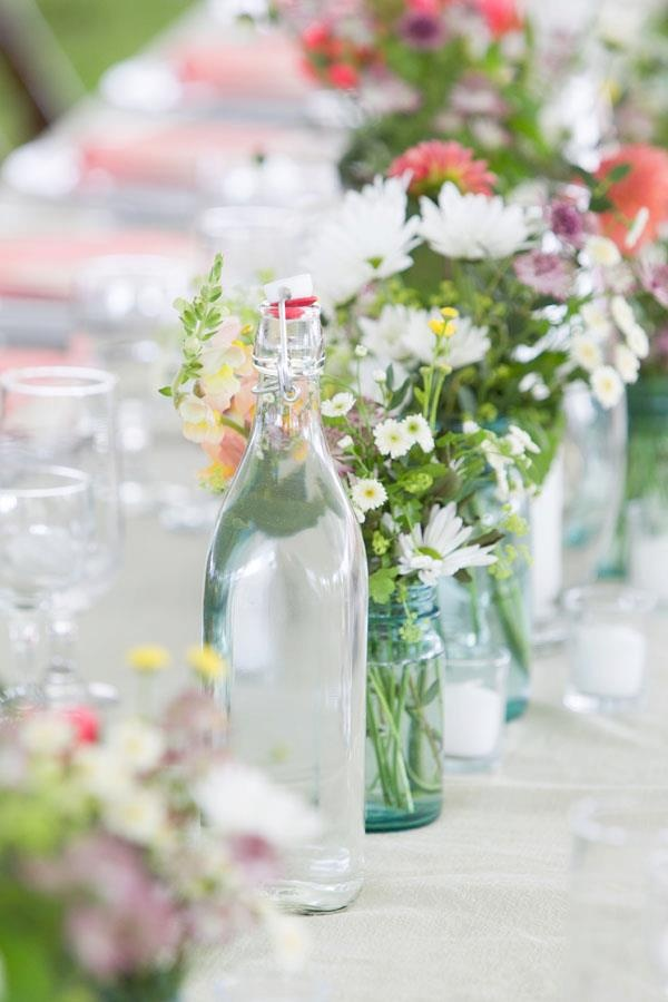 Old bottles all dressed up and ready for a party!